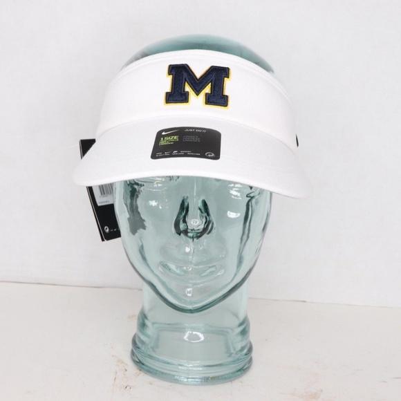 c701700baa2 Nike Accessories | New Drifit Michigan Wolverines Visor Hat Cap ...